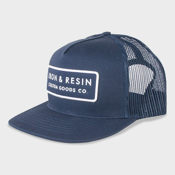 Iron & Resin Standard Hat Navy