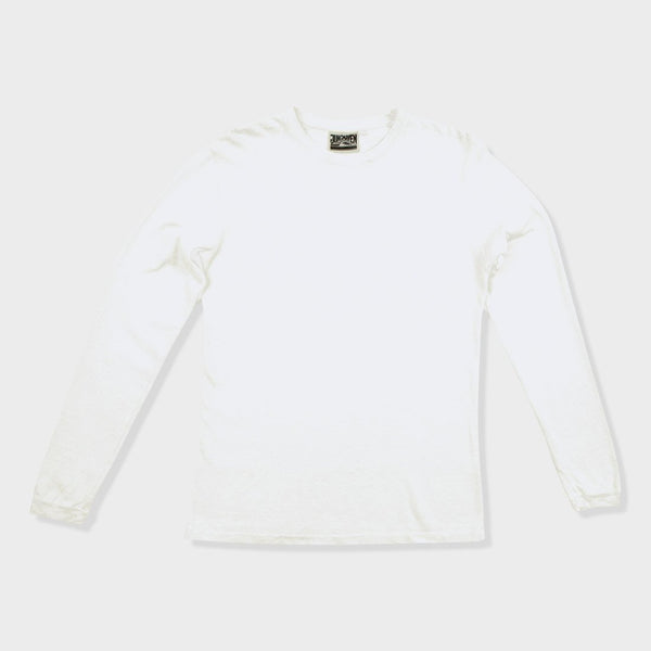 product: Jungmaven Baja 7oz Long Sleeve Pocket Shirt Washed White