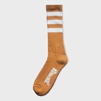 product: Jungmaven Town and Country Socks White Strips on Marigold
