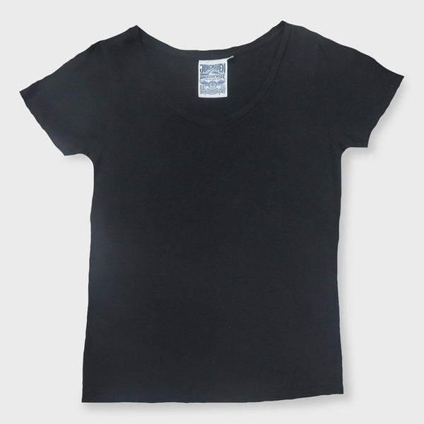 product: Jungmaven Women's Paige V-Neck 5oz Black