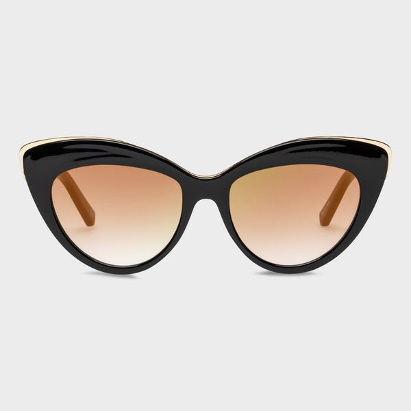 product: Le Specs Women's Beautiful Stranger Sunglasses Black/ Brown