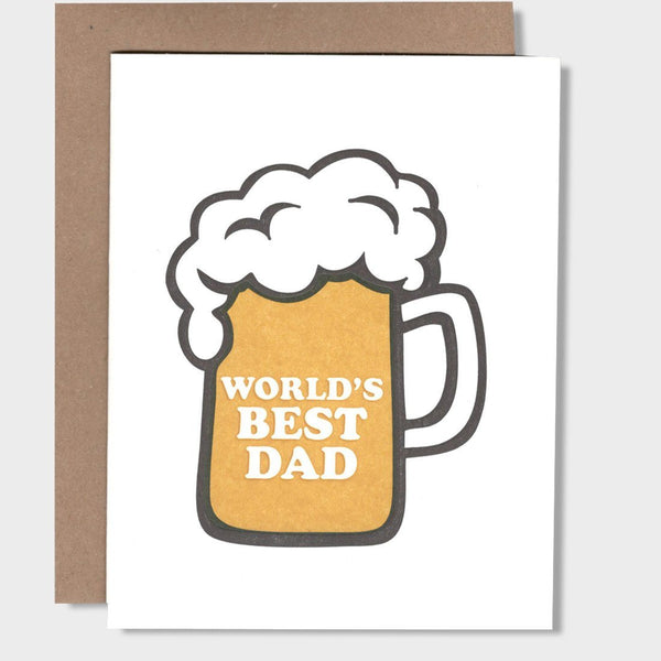 product: Light and Press World's Best Dad Card White