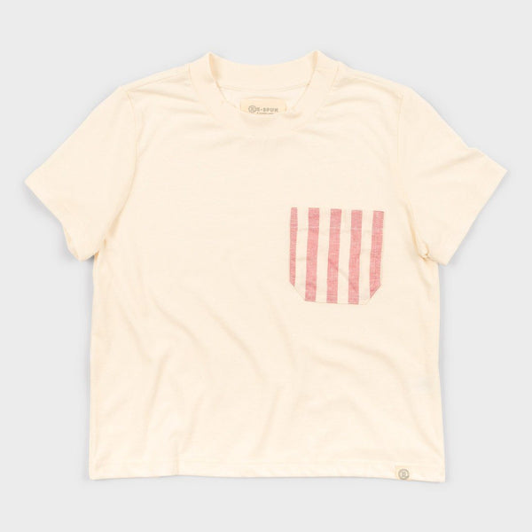 product: Marine Layer Women's Re-Spun Pocket T-Shirt Natural