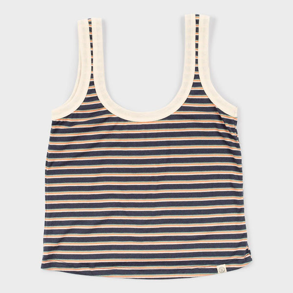 product: Marine Layer Women's Re-Spun Tank Multi Stripe