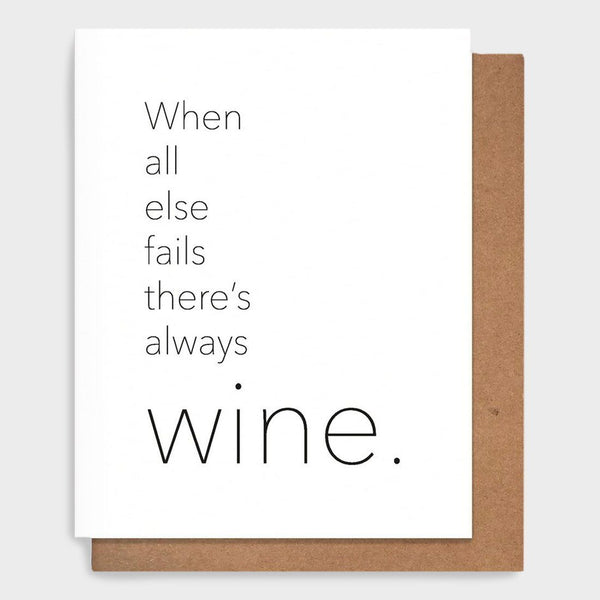 product: Pretty Alright Goods Always Wine Card