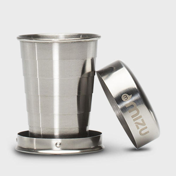 product: Mizu Collapsible Shot Glass Stainless Steel