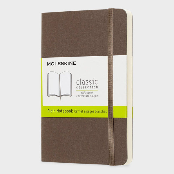 product: Moleskine Classic Notebook Hardcover/ Plain Earth Brown