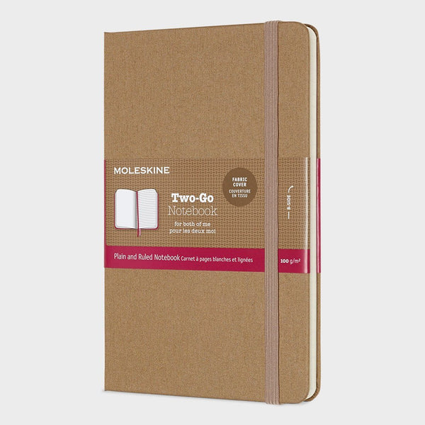 product: Moleskine Two-Go Notebook Kraft Brown