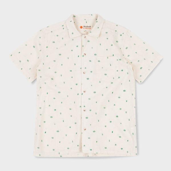 product: Mollusk Aloha Shirt Cactus Green