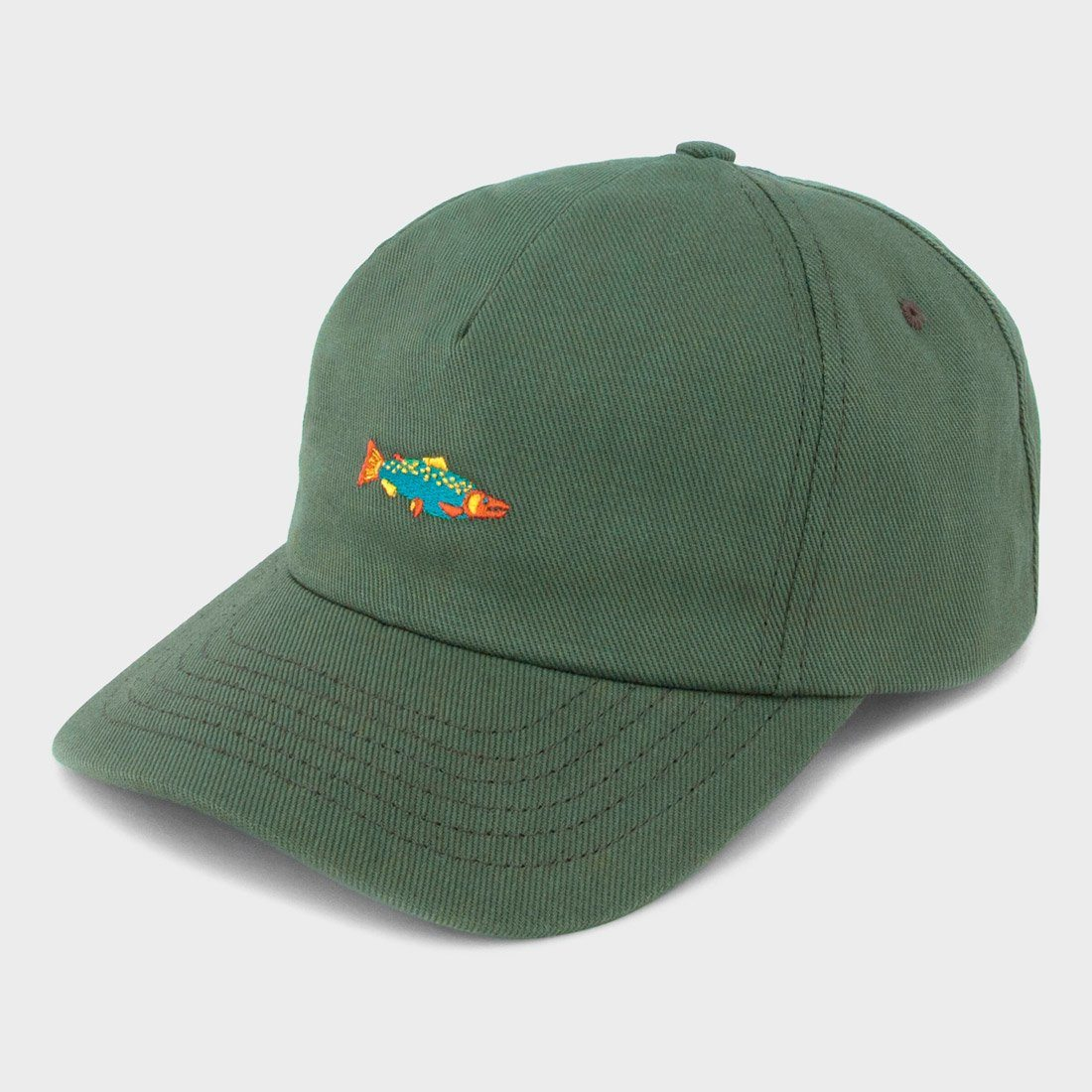 Mollusk Hot Salmon Polo Hat Mash Green