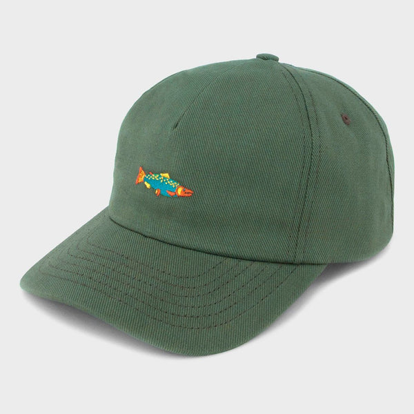 product: Mollusk Hot Salmon Polo Hat Mash Green