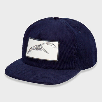 product: Mollusk Pelican Patch Corduroy Hat Navy