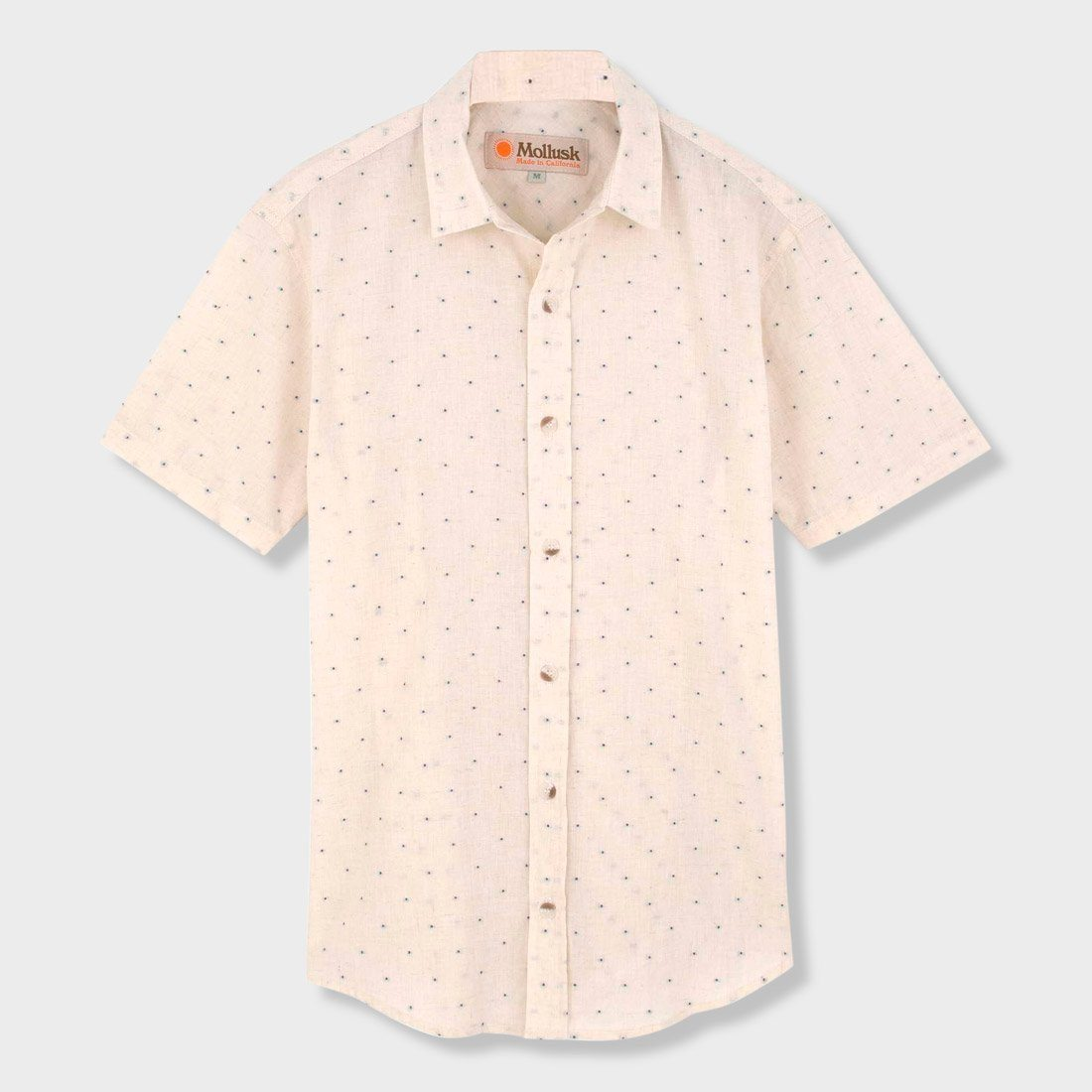 Mollusk Summer Shirt Natural/ Blue Dobby