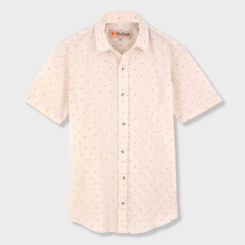 product: Mollusk Summer Shirt Natural/ Blue Dobby