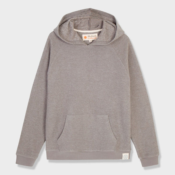 product: Mollusk Wave Patch Pullover Cloud Grey