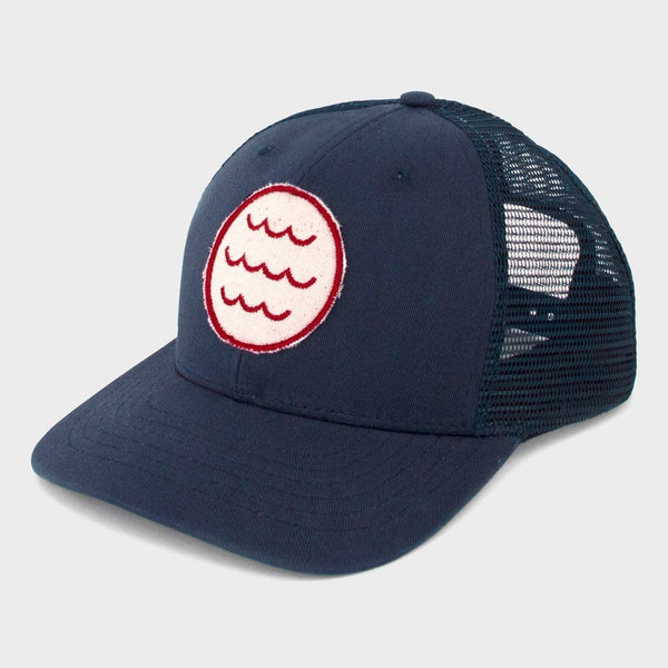 product: Mollusk Wave Patch Trucker Hat Navy