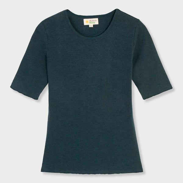 product: Mollusk Women's Hemp Rib T-Shirt Blue Algae