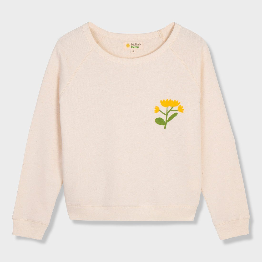 Mollusk Women's Soft Harvest Crew Natural