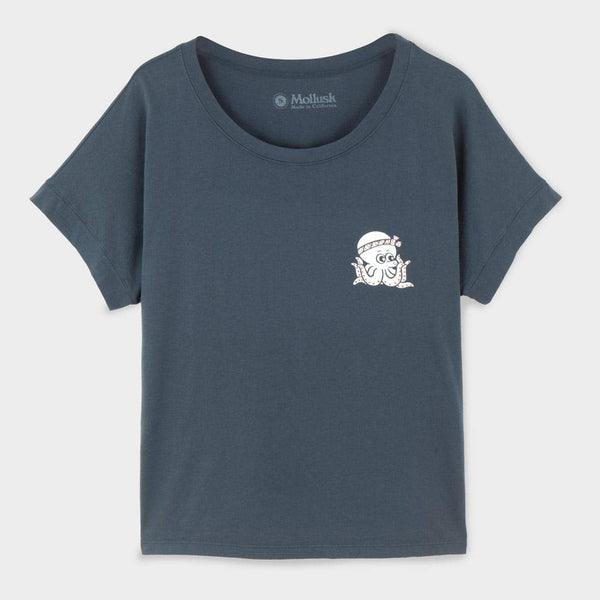 product: Mollusk Women's Tako T-Shirt Faded Navy