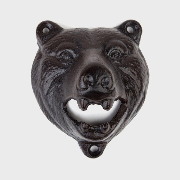 product: Mollyjogger Bear Bottle Opener Wall Mount