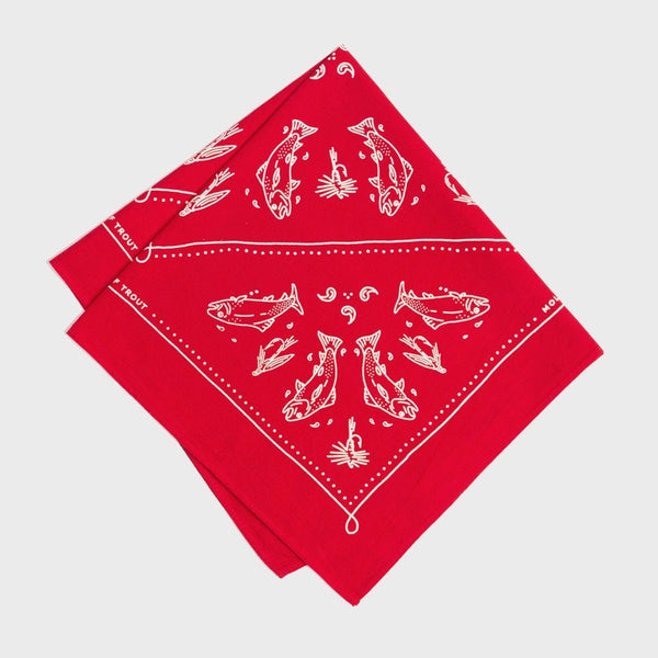 product: Mollyjogger Mess of Trout Kerchief Red
