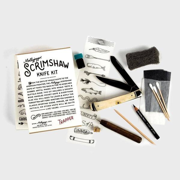 product: Mollyjogger Scrimshaw Kit + Trapper Knife
