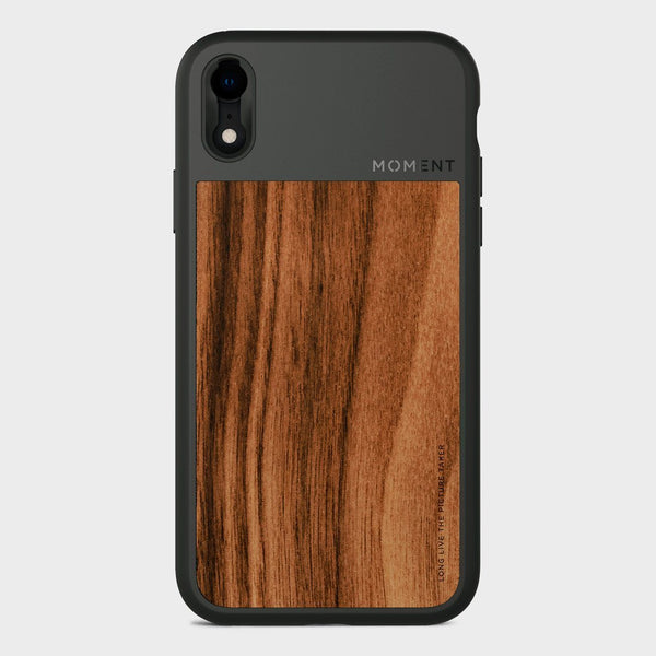 product: Moment Photo Case iPhone XR Walnut