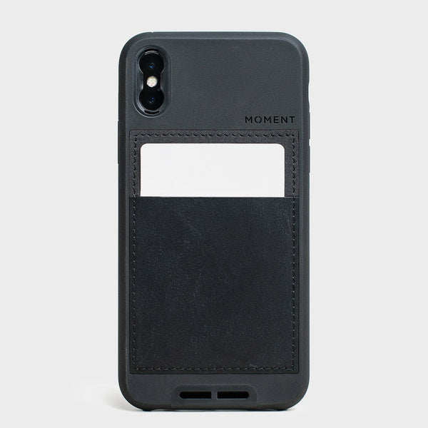 product: Moment Wallet Photo Case - iPhone X - Black Leather