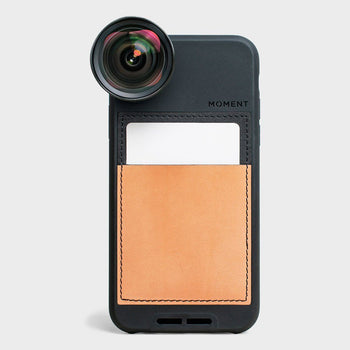 product: Moment Wallet Photo Case - iPhone X - Natural Leather