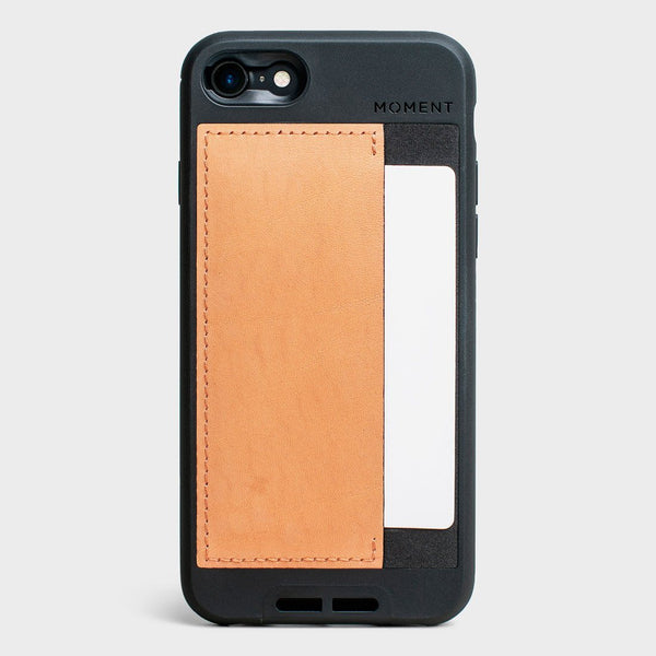 product: Moment Wallet Photo Case - iPhone 8/7 - Natural Leather