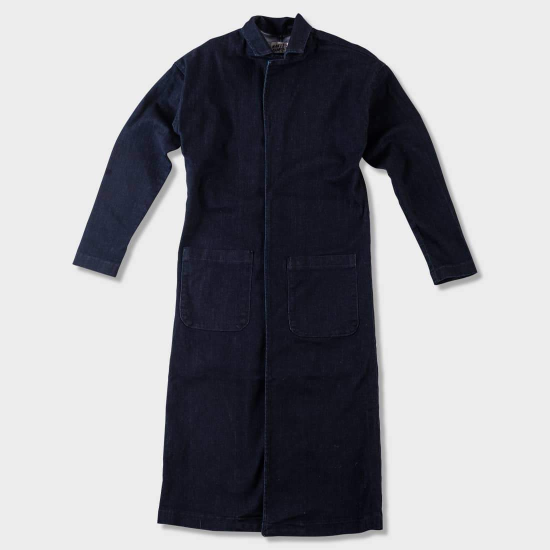 Naked & Famous Duster Coat Indigo Stretch Denim