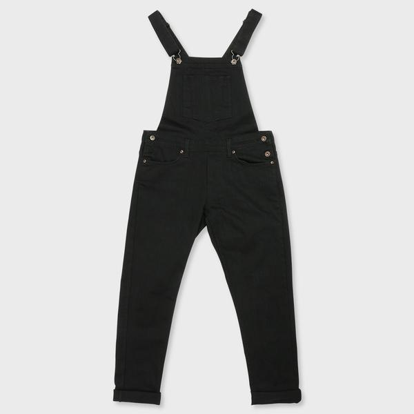 Naked & Famous Overalls Black Power-Stretch