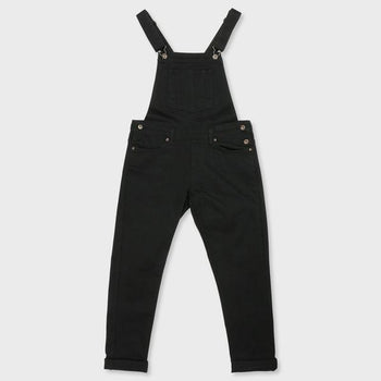 product: Naked & Famous Women's Overalls Black Power-Stretch