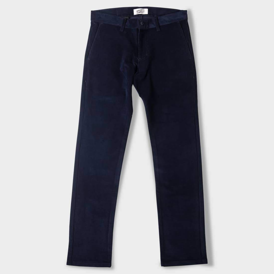Naked & Famous Slim Chino 2-Way Stretch Corduroy Navy