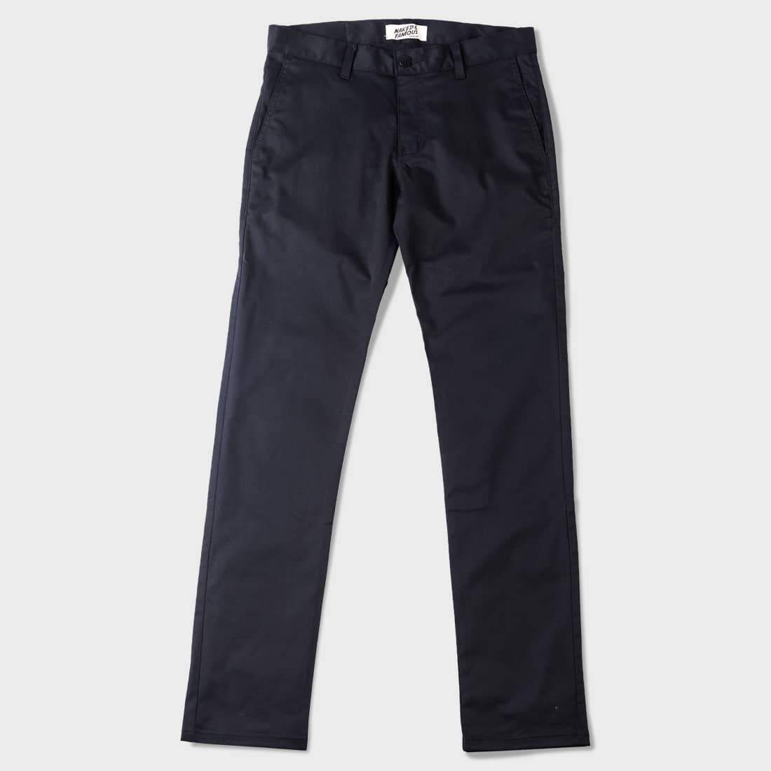 Naked & Famous Slim Chino Stretch Twill Black
