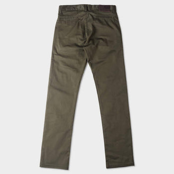 product: Naked & Famous Slim Chino Stretch Twill Khaki Green