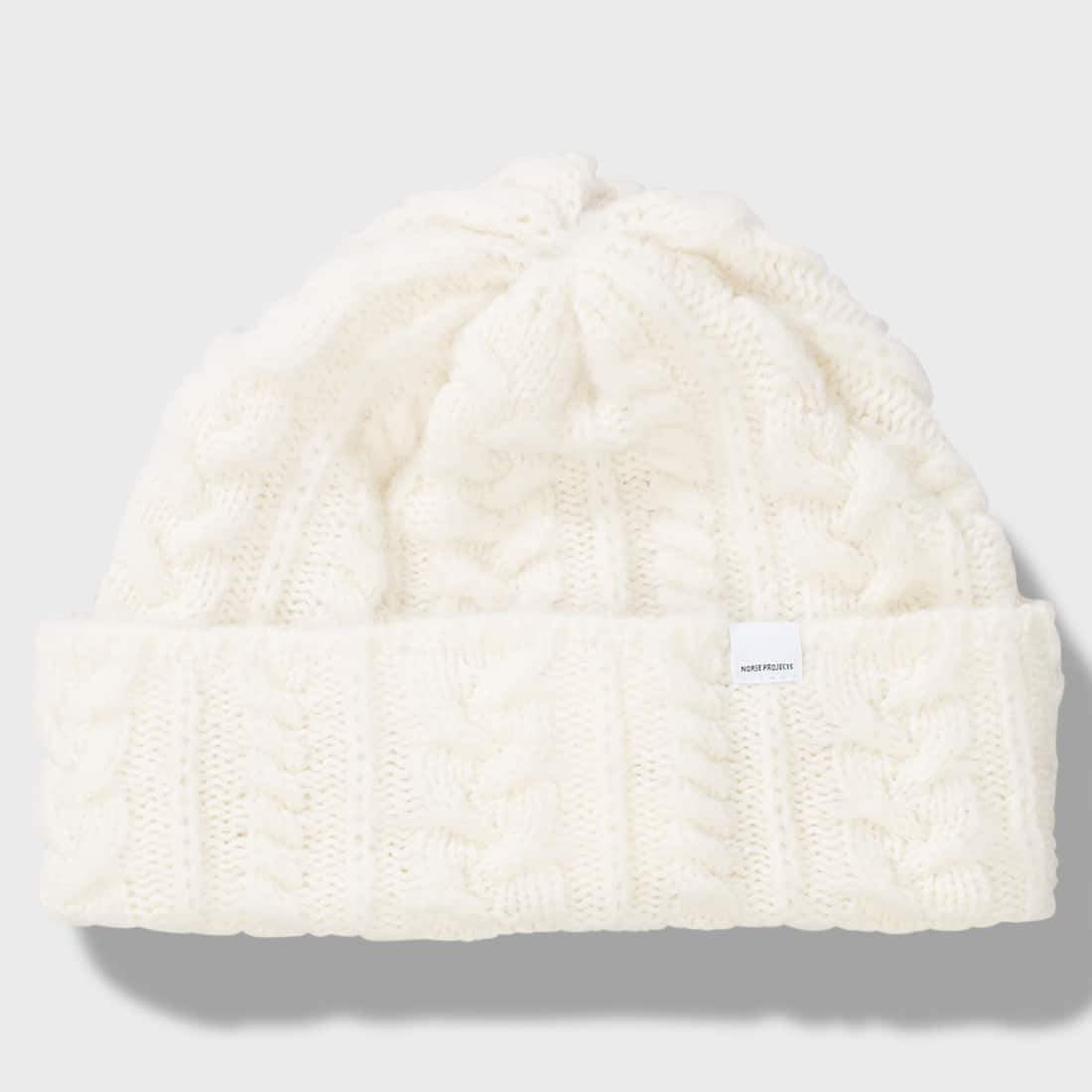 Norse Projects Brushed Cable Beanie Ecru