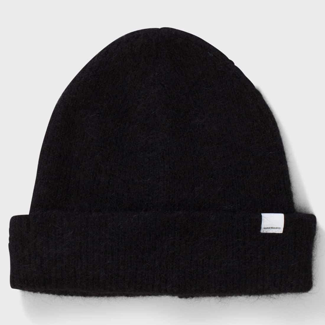 Norse Projects Martha Brushed Rib Beanie  Black