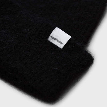 product: Norse Projects Martha Brushed Rib Beanie  Black