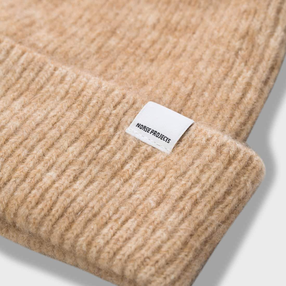 5cf5b85a9ef ... product  Norse Projects Martha Brushed Rib Beanie Camel