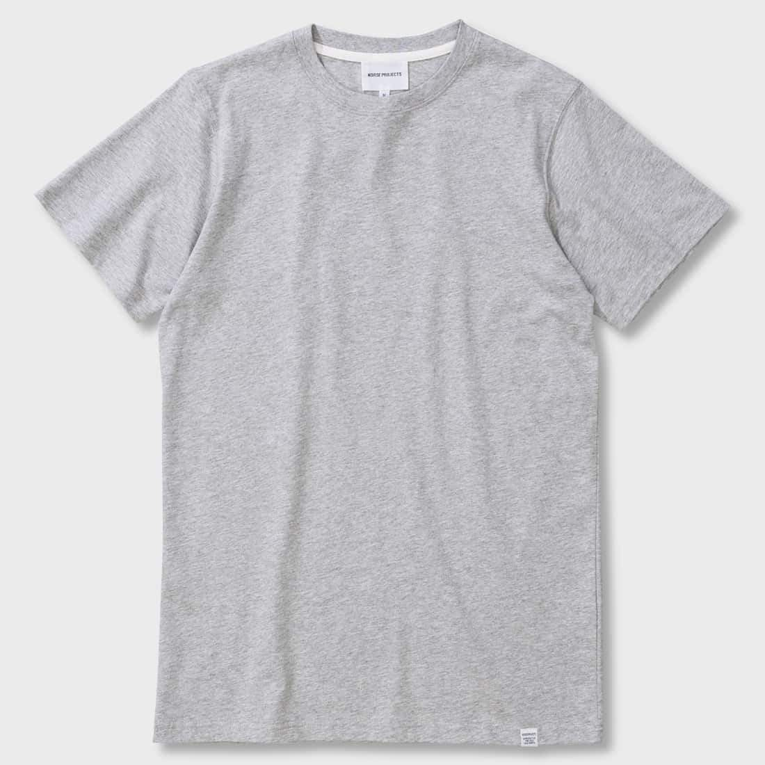 Norse Projects Niels Standard S/S T-shirt Light Grey Melange