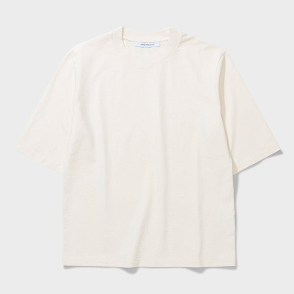 product: Norse Projects Women's Ginny Skate Jersey T-Shirt Ecru