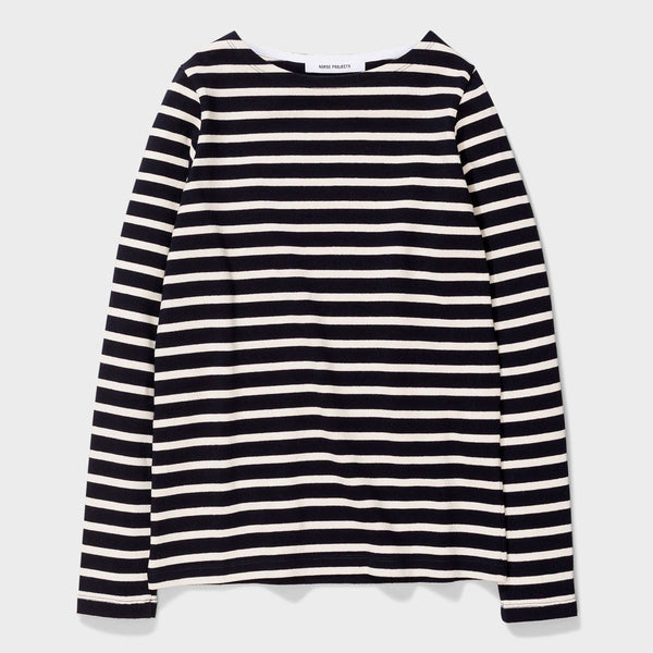 product: Norse Projects Inge Classic Stripe Dark Navy