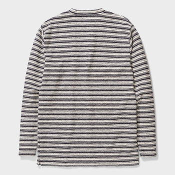 product: Norse Projects Johannes Textured Stripe Ecru