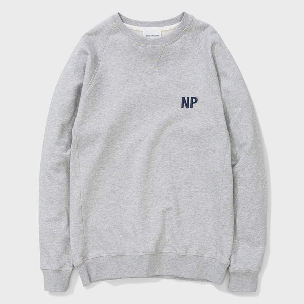 product: Norse Projects Ketel Crew Embroidery Logo Light Grey Melange