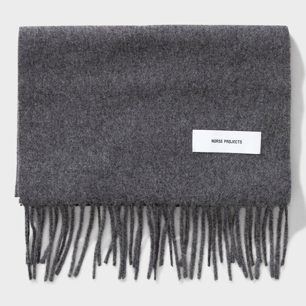 product: Norse Projects Lambswool Scarf Grey Melange