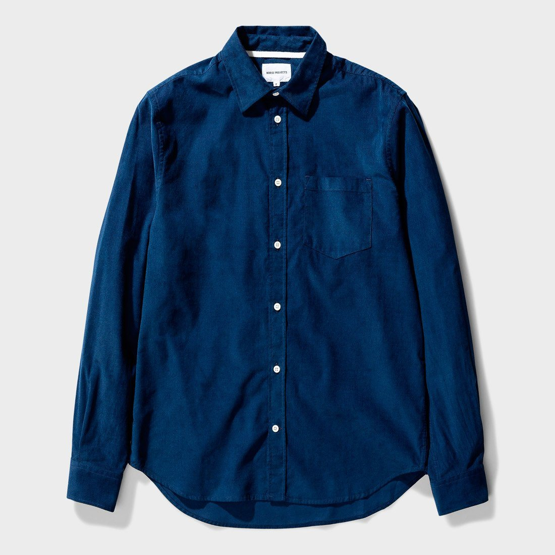 Norse Projects Osvald Corduroy Shirt Navy