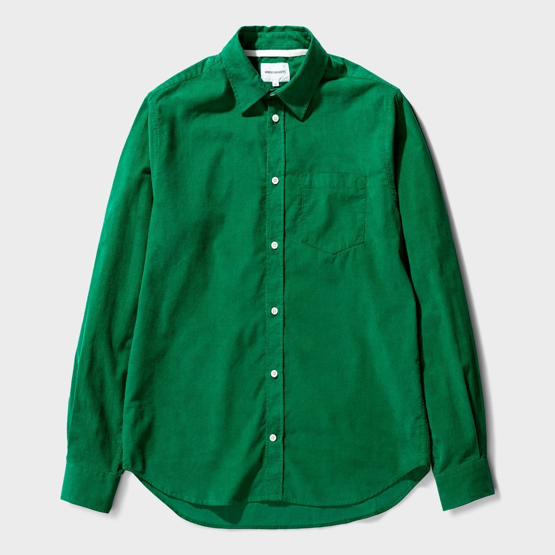 Norse Projects Osvald Corduroy Shirt Sporting Green