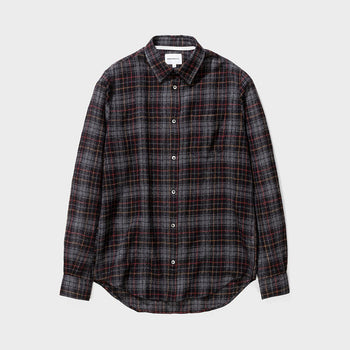 product: Norse Projects Osvald Japanese Gause Check Charcoal