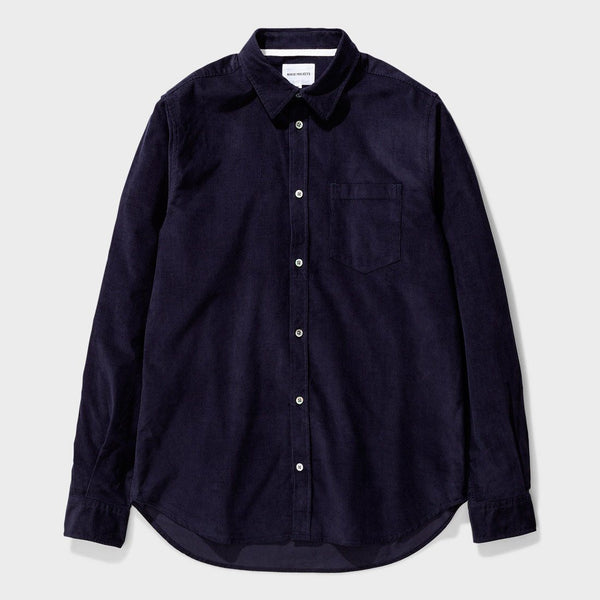 product: Norse Projects Osvalk Corduroy Shirt Dark Navy